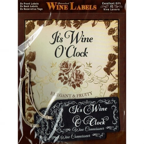 Mulberry Studios Personalised Wine Label - Its Wine OClock