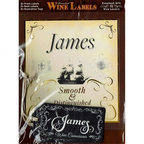 Mulberry Studios Personalised Wine Label James