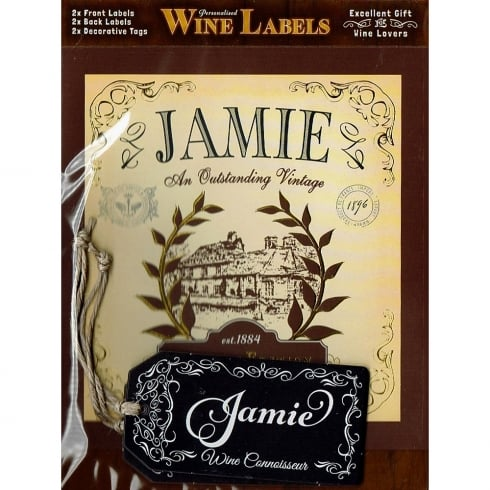 Mulberry Studios Personalised Wine Label Jamie