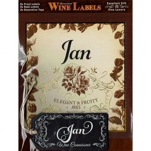 Mulberry Studios Personalised Wine Label Jan