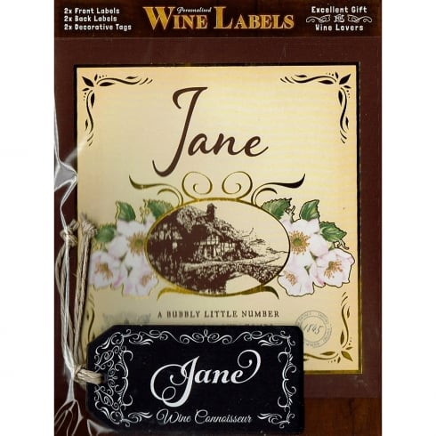 Mulberry Studios Personalised Wine Label Jane
