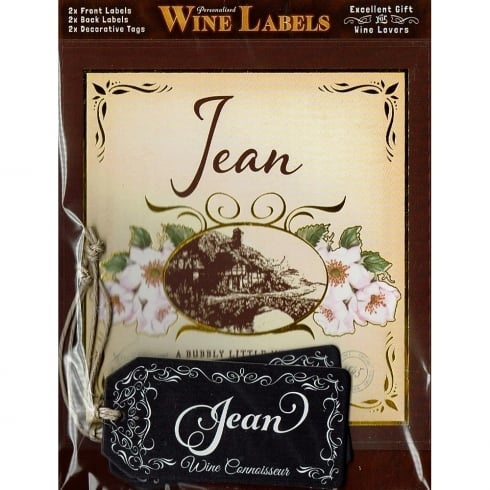 Mulberry Studios Personalised Wine Label Jean