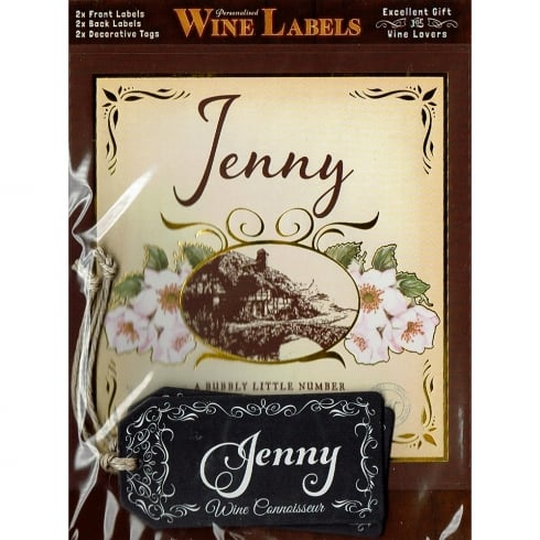 Mulberry Studios Personalised Wine Label Jenny