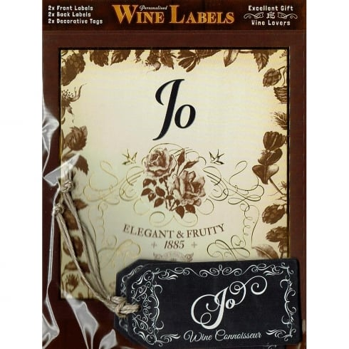 Mulberry Studios Personalised Wine Label Jo