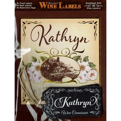 Mulberry Studios Personalised Wine Label Kathryn