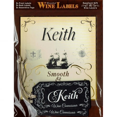 Mulberry Studios Personalised Wine Label Keith