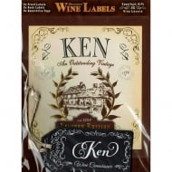 Personalised Wine Label Ken
