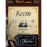 Personalised Wine Label Kevin