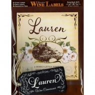 Personalised Wine Label Lauren