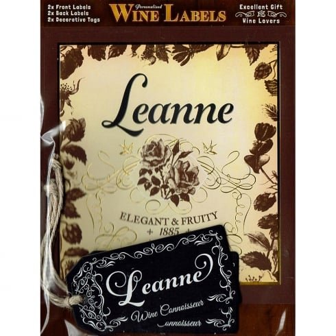 Mulberry Studios Personalised Wine Label Leanne