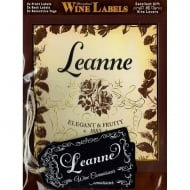 Personalised Wine Label Leanne