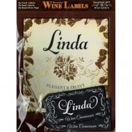 Personalised Wine Label Linda