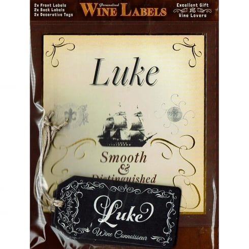 Mulberry Studios Personalised Wine Label Luke