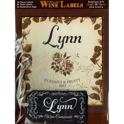 Mulberry Studios Personalised Wine Label Lynn