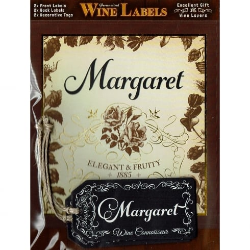 Mulberry Studios Personalised Wine Label Margaret