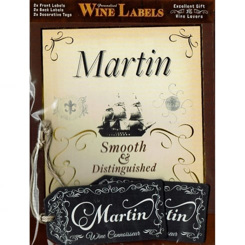 Mulberry Studios Personalised Wine Label Martin