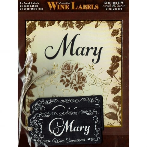 Mulberry Studios Personalised Wine Label Mary