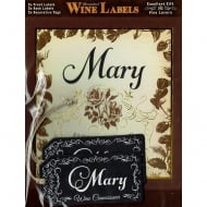 Personalised Wine Label Mary