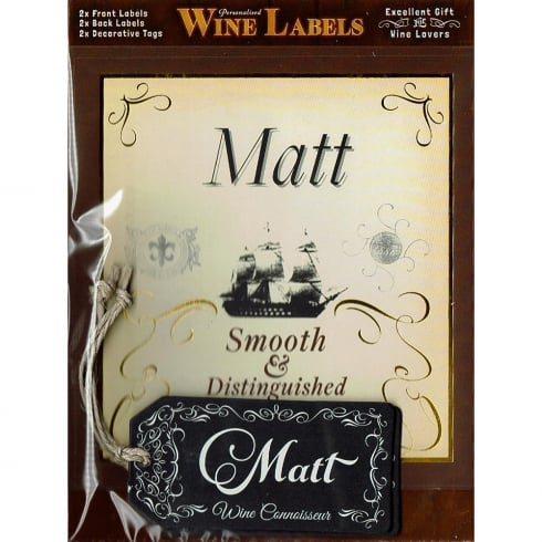 Mulberry Studios Personalised Wine Label Matt