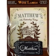 Personalised Wine Label Matthew