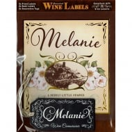 Personalised Wine Label Melanie