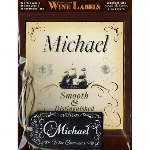Mulberry Studios Personalised Wine Label Michael