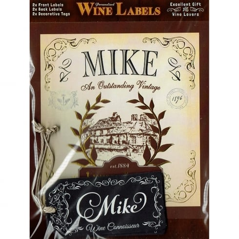 Mulberry Studios Personalised Wine Label Mike