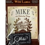 Personalised Wine Label Mike