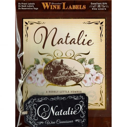 Mulberry Studios Personalised Wine Label Natalie