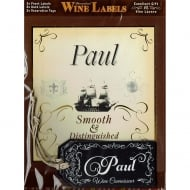 Personalised Wine Label Paul