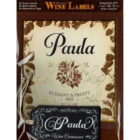 Mulberry Studios Personalised Wine Label Paula