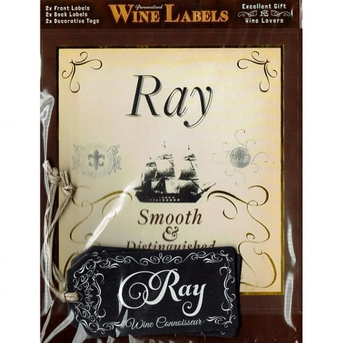 Mulberry Studios Personalised Wine Label Ray