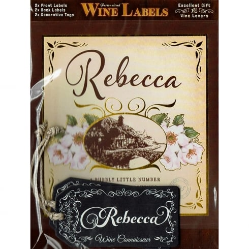 Mulberry Studios Personalised Wine Label Rebecca