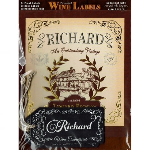 Mulberry Studios Personalised Wine Label Richard