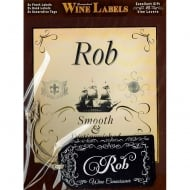 Personalised Wine Label Rob
