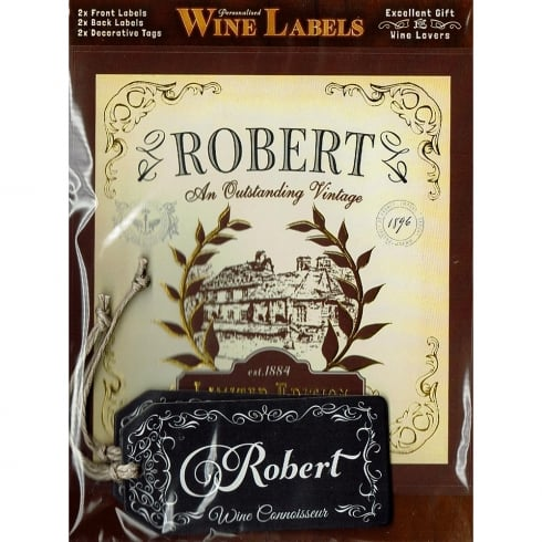 Mulberry Studios Personalised Wine Label Robert
