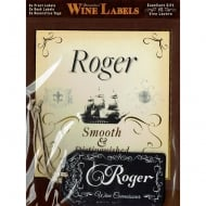 Personalised Wine Label Roger