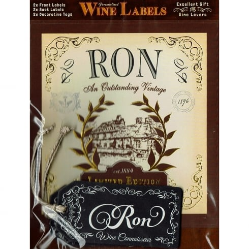 Mulberry Studios Personalised Wine Label Ron