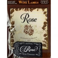 Personalised Wine Label Rose