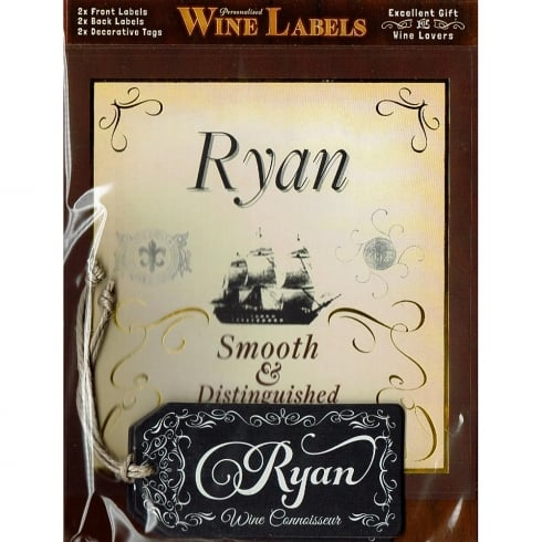Mulberry Studios Personalised Wine Label Ryan