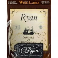 Personalised Wine Label Ryan
