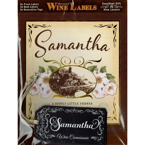 Mulberry Studios Personalised Wine Label Samantha