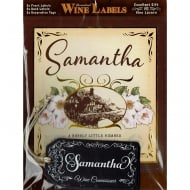 Personalised Wine Label Samantha