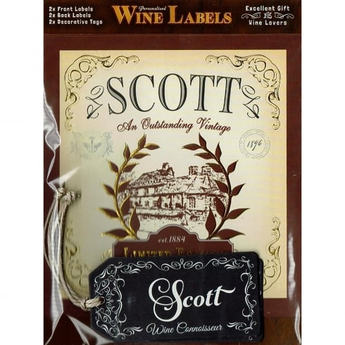 Mulberry Studios Personalised Wine Label Scott