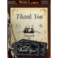 Personalised Wine Label Thank You
