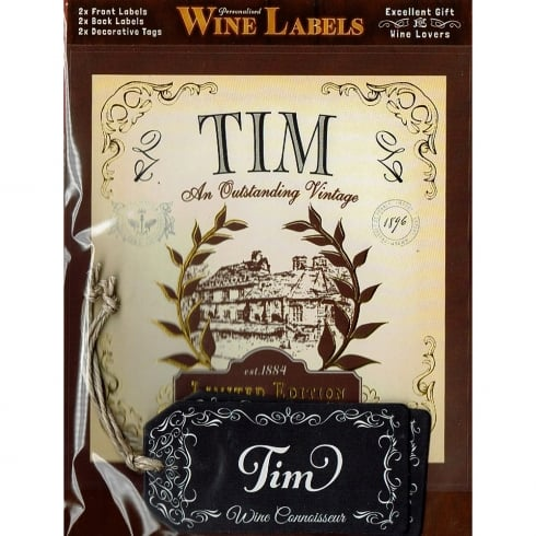Mulberry Studios Personalised Wine Label Tim