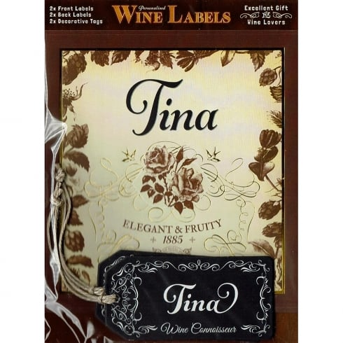 Mulberry Studios Personalised Wine Label Tina