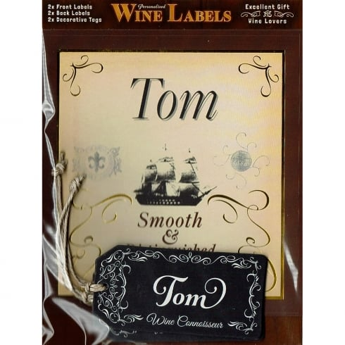 Mulberry Studios Personalised Wine Label Tom