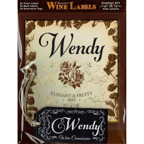 Mulberry Studios Personalised Wine Label Wendy