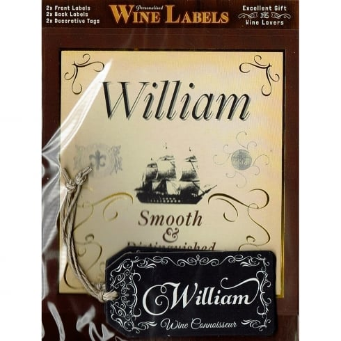 Mulberry Studios Personalised Wine Label William